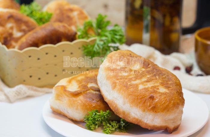 рецепт жареных пирожков с фото
