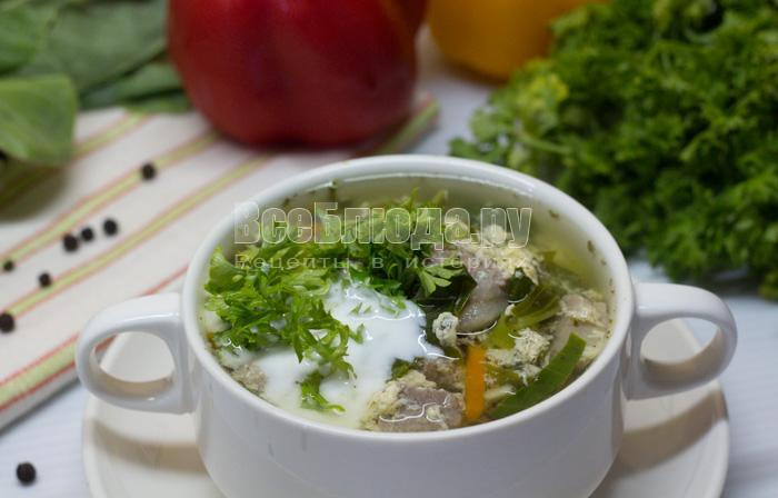 как сварить щавельный суп с яйцом