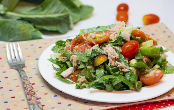 заправка для салата с тунцом консервированным и помидорами рецепт