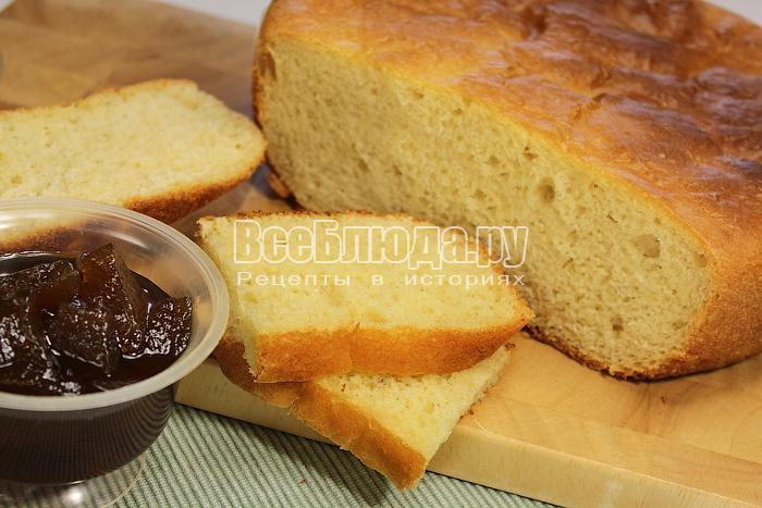 Хлеб на кефире в разрезе