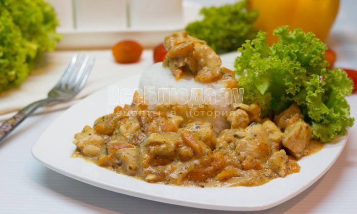 рецепт куриного филе со сливкам