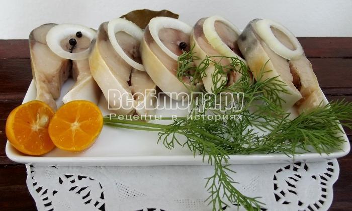 Маринованная скумбрия в домашних условиях, рецепт с горчицей