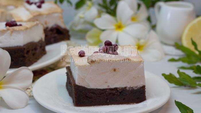 пирог с безе рецепт с фото