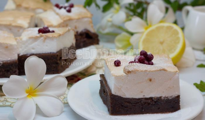 рецепт пирога с безе и джемом, пошаговые фото