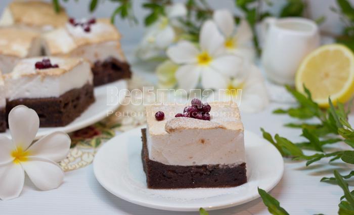 как приготовить пирог с безе