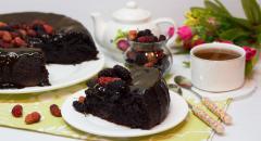 Шоколадный кекс с кабачком в мультиварке