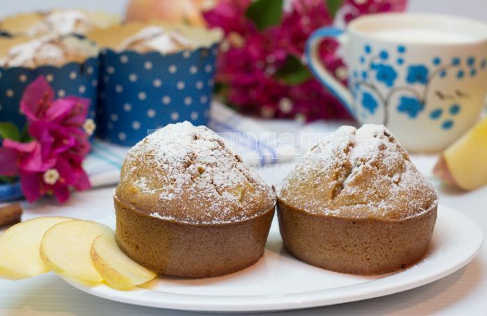 рецепт маффинов с яблоками, фото