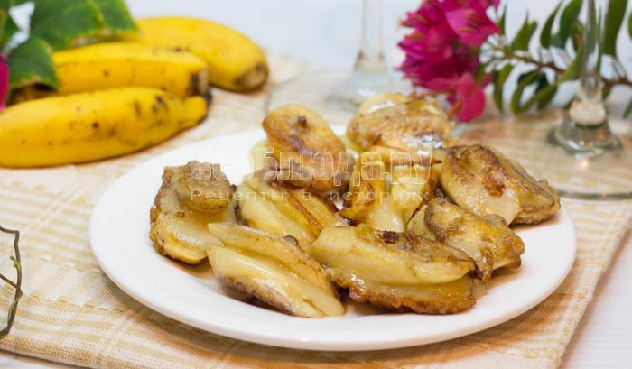 как пожарить бананы с сыром