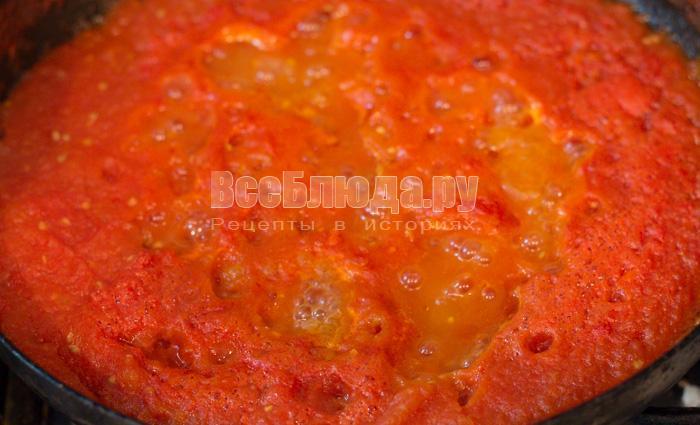 Домашний томатный соус (замена кетчупу и пасте)