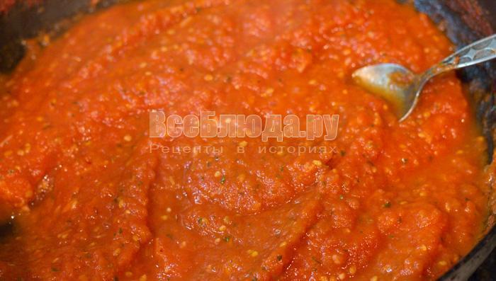 проварить томатный соус