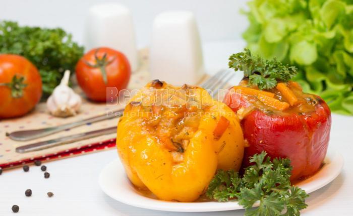 рецепт фаршированных болгарских перцев с картошкой