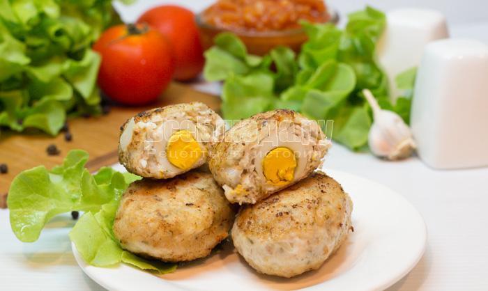рецепт котлет с яйцом