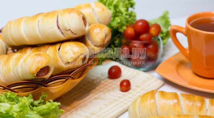 рецепт сосисок в заварном тесте