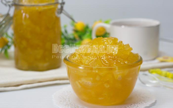 рецепт варенья из ананасов