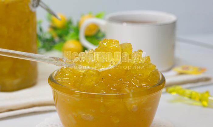 варенье из свежего ананаса рецепт с фото