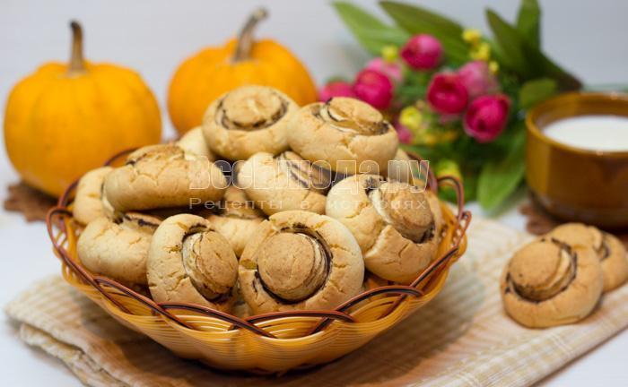 печенье грибочки из песочного теста