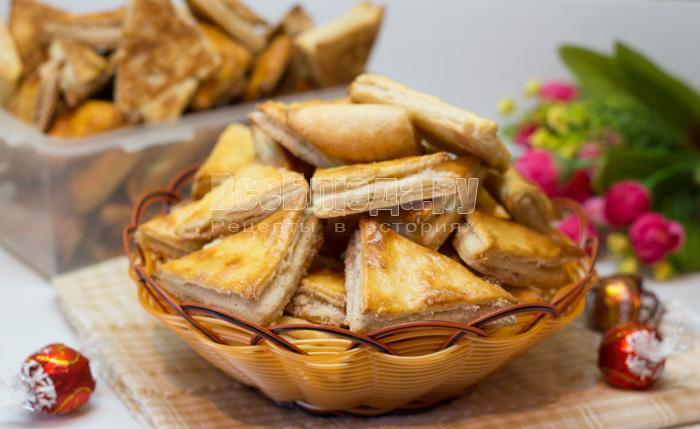рецепт печенья угольнички с сахаром