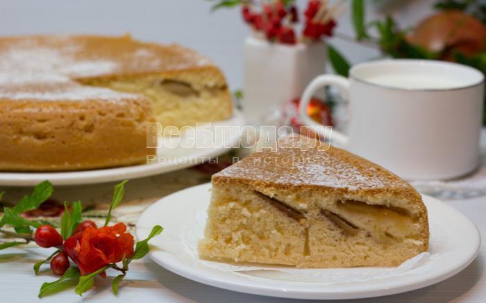 как приготовить пирог с яблоками в мультиварке