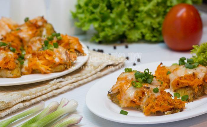 рецепт рыбного филе под морковной шубой