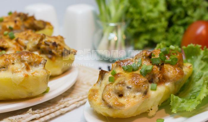 как приготовить картошку с грибами и морковкой в духовке