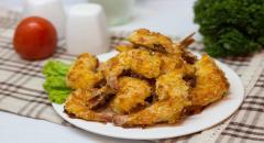 Креветки в панировке с сыром в духовке