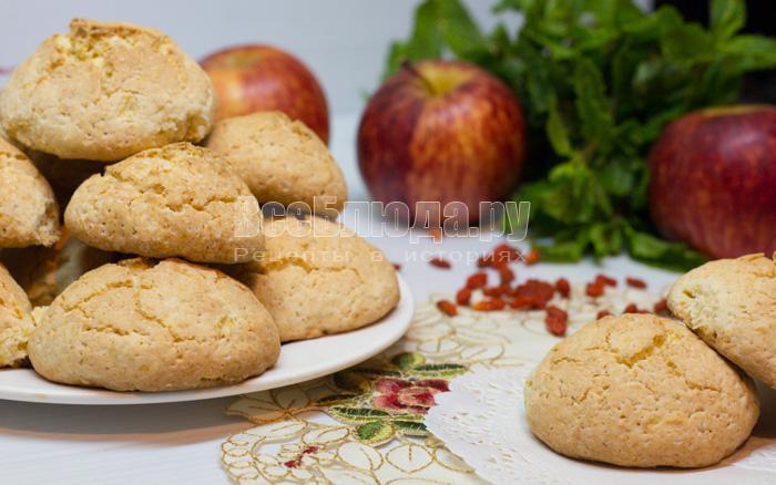 рецепт овсяного печенья с яблоками