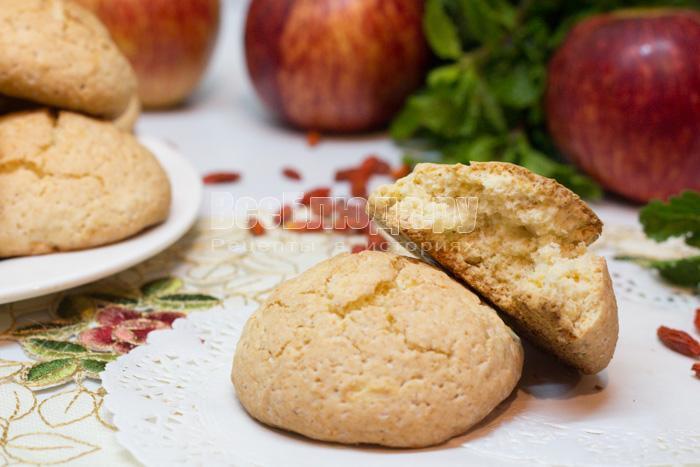 яблочное печенье из овсянки без муки