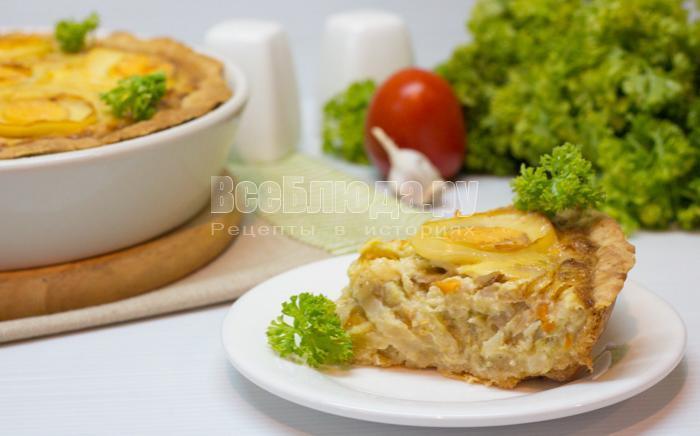 рецепт капустного пирога со сливками и сыром