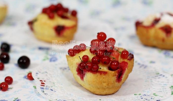 как приготовить ягодные кексы