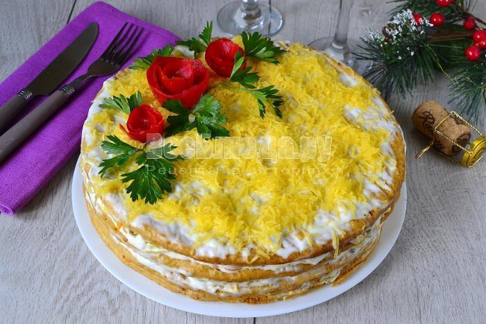 рецепт торта из магазинных коржей для наполеона