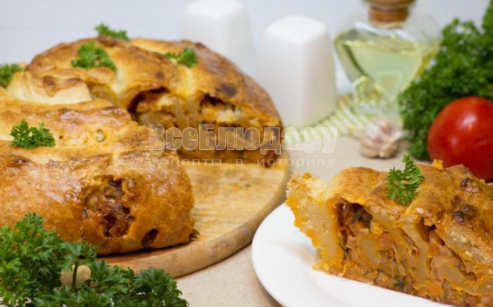 как приготовить капустный пирог на сметане