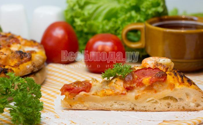 рецепт семги с креветками и сыром, рецепт с фото
