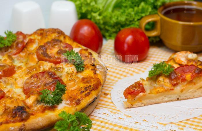 рецепт с фото пиццы с семгой и сыром