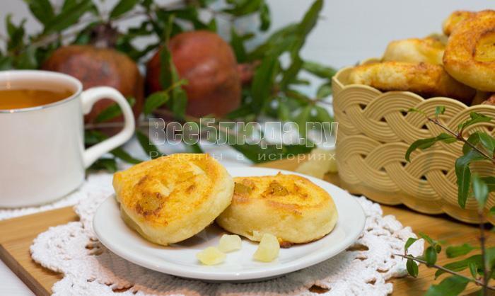 рецепт творожного печенья с цукатами