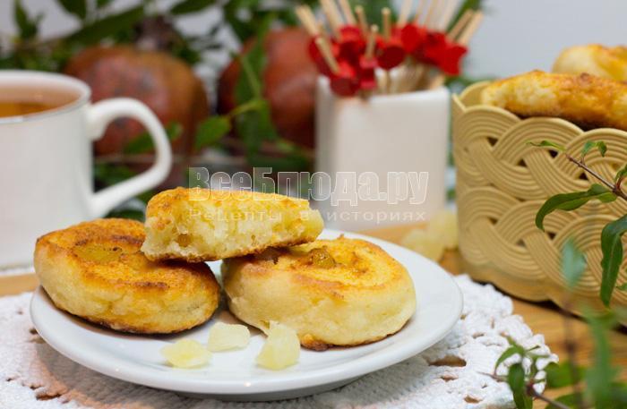 как испечь печенье с творогом и цукатами