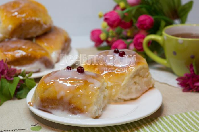 готовые булочки в сметане, рецепт с фото