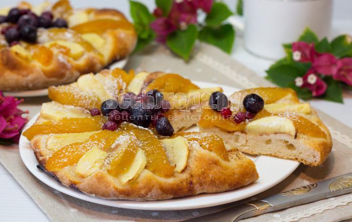рецепт пирога с фруктами