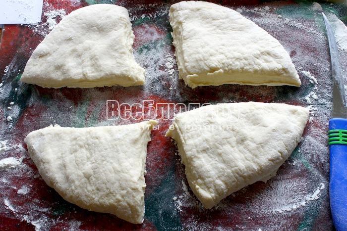 разделить тесто на части