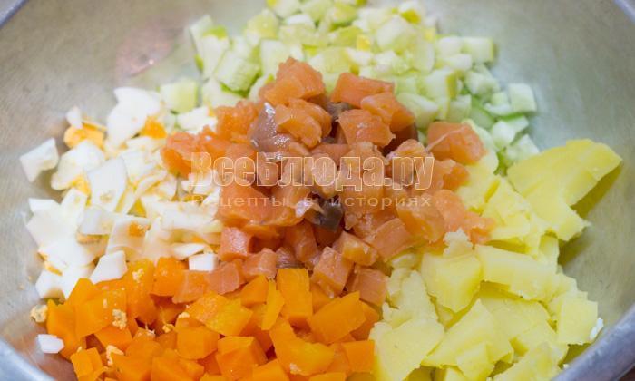рецепты их мяса яйц картофеля салат