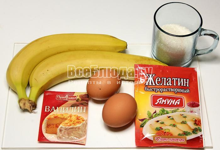 ингредиенты для самбука из бананов