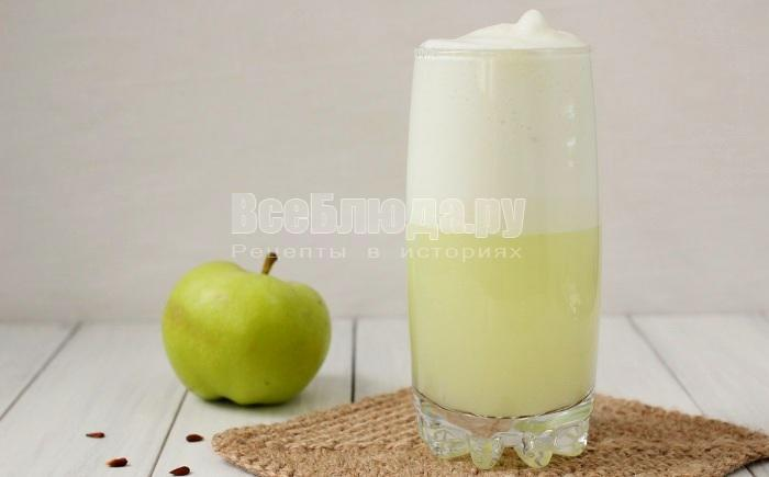 Яблочный коктейль на сыворотке