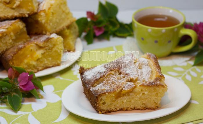 кусочек пирога с манго