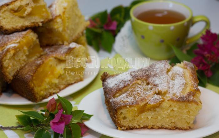 рецепт пирога с манго и творогом