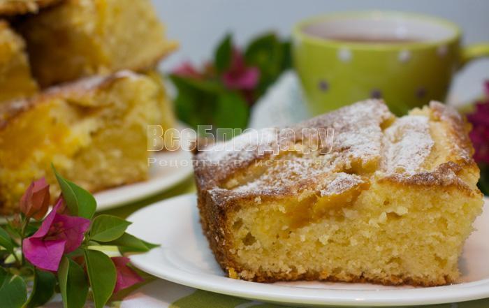 манговый пирог с творогом
