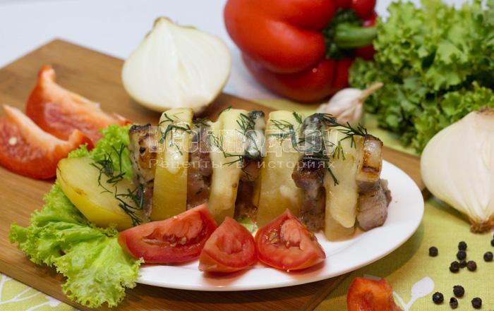 рецепт картошки с грудинкой