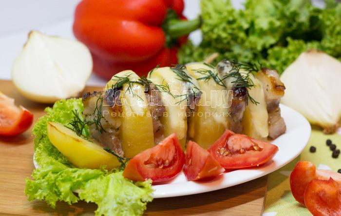 как запечь картошку с грудинкой в духовке