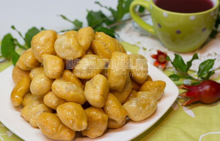 рецепт татарских баурсаков