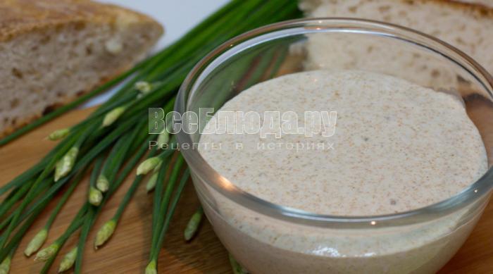 вечная закваска для выпечки хлеба