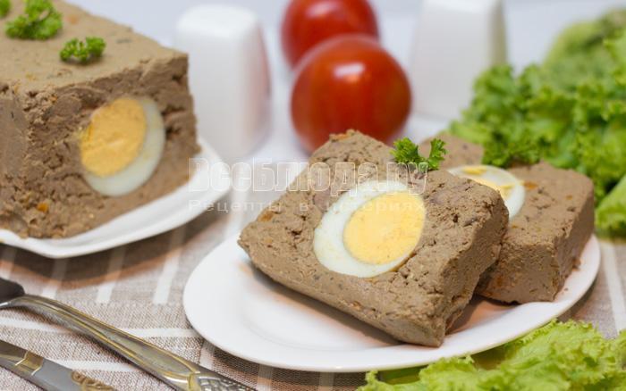 паштет с вареными яйцами внутри
