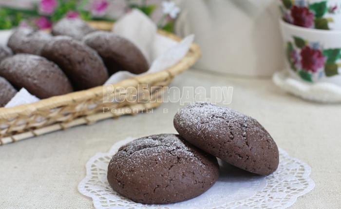 шоколадное печенье с начинкой